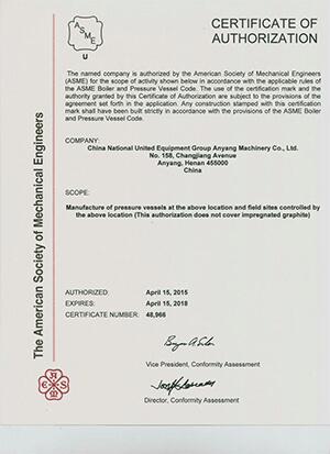 company ASME certificate full version