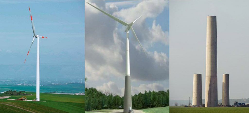 different wind turbine towers comparison