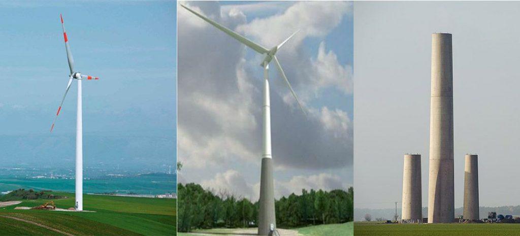 different wind turbine towers comparison