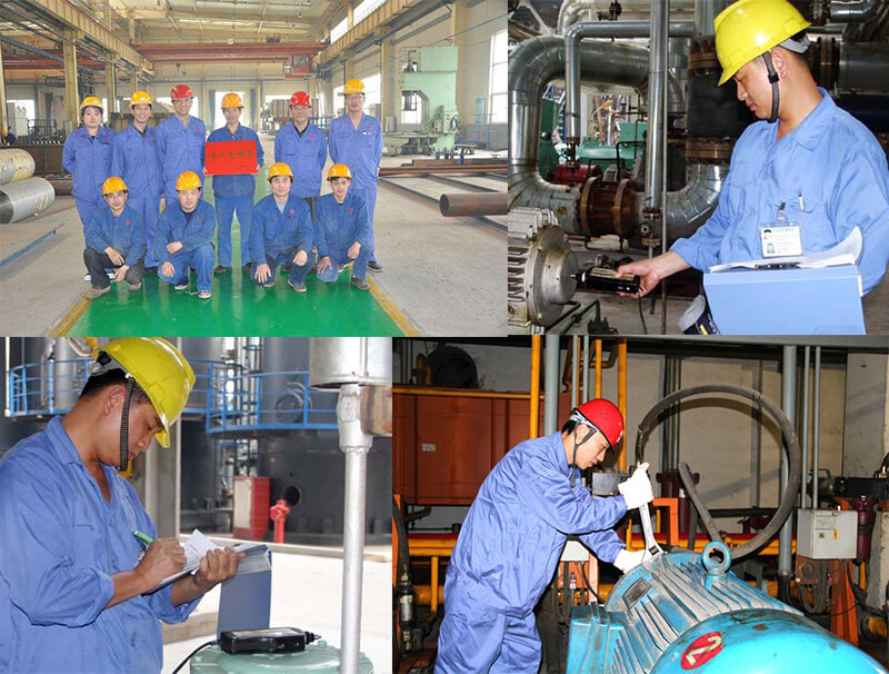 a series of pictures of cnbm technical team