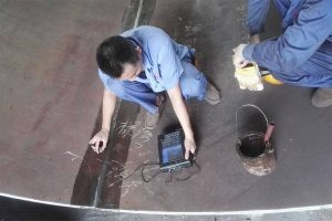 NDT checking after welding