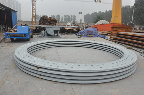anchor plate and load distribution plate for wind tower foundation