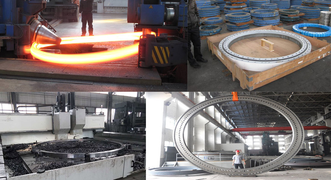 a picture of wind turbine tower flange manufacturing processes