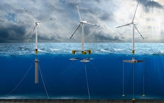 a picture about wind turbine tower undersea foundation