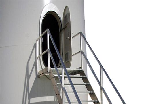 door of wind turbine towers