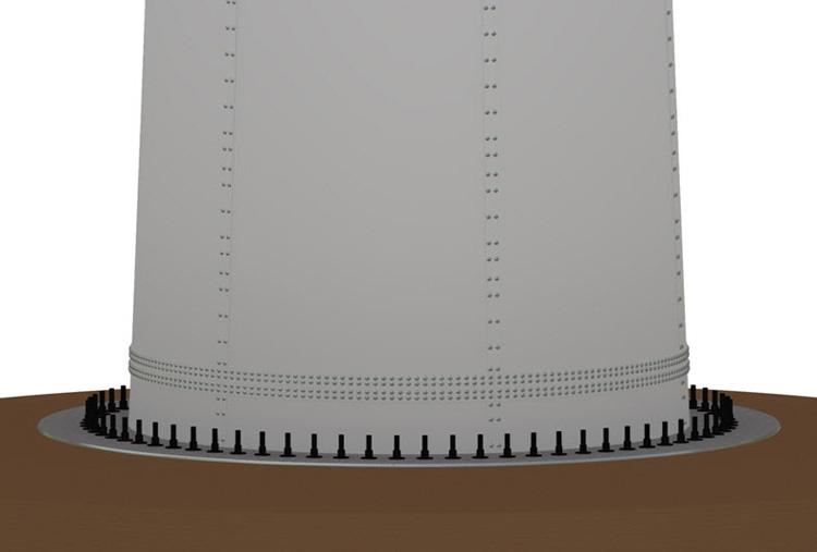 wind turbine tower flange