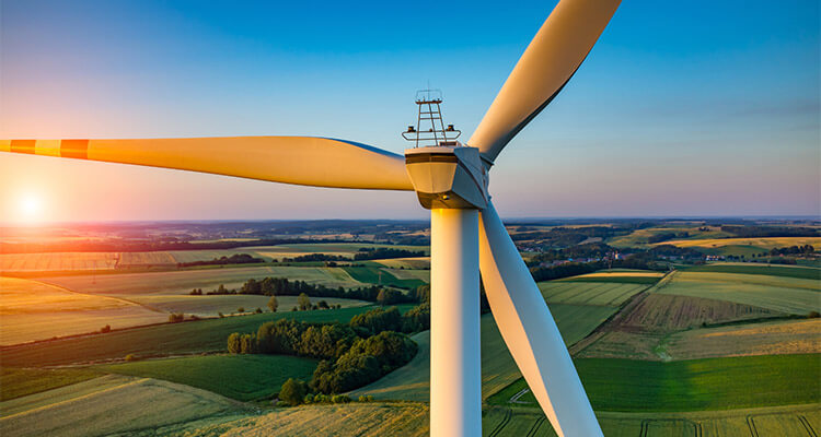 a picture of wind turbine tower system