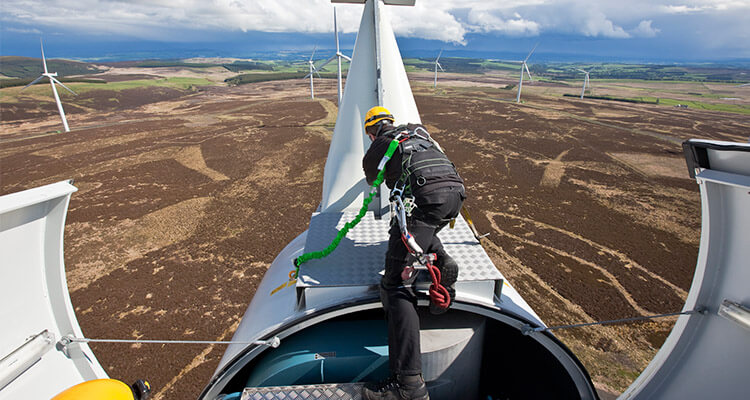 inspect wind turbine conditions before running