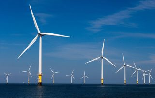 a picture of offshore wind farm