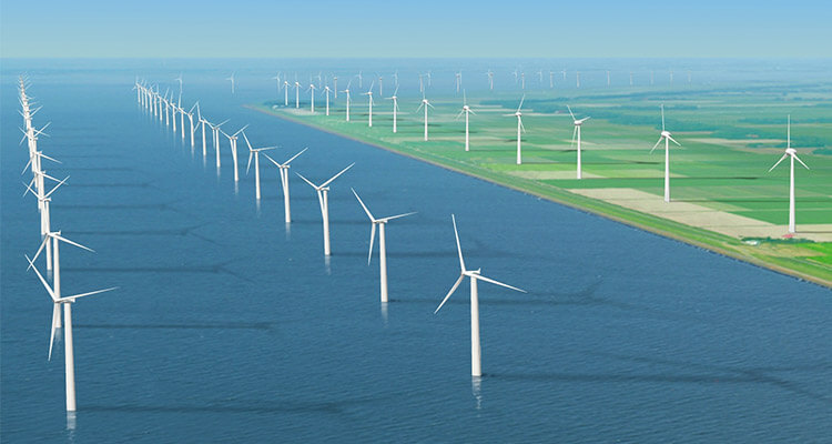The design picture of wind farm project
