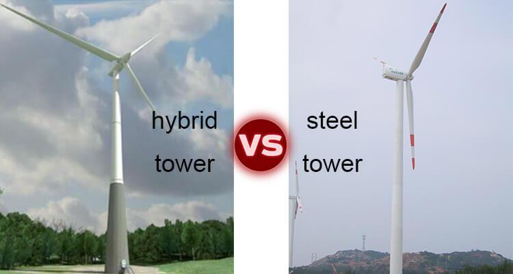 hybrid steel tower vs steel wind tower