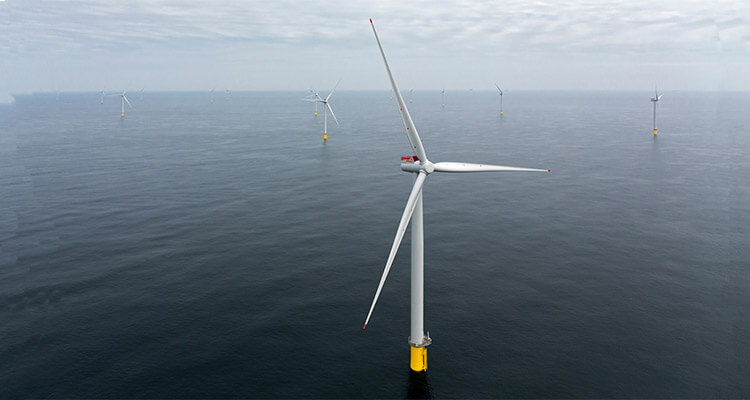 a picture of offshore wind turbine tower systems