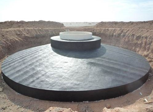 shallow mat type wind turbine tower foundation with cover